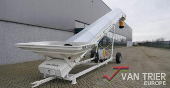 Van Trier transportband bulk truck loader bulkwagenlader bulk silowagen silowagenfuellanlage