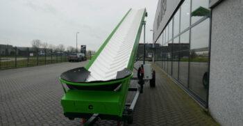 Van Trier 10,5-80 meter transportband foerderband conveyor belt elevator opvoerband steigeband